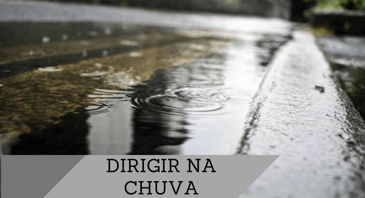 Dirigir na chuva aquaplanagem